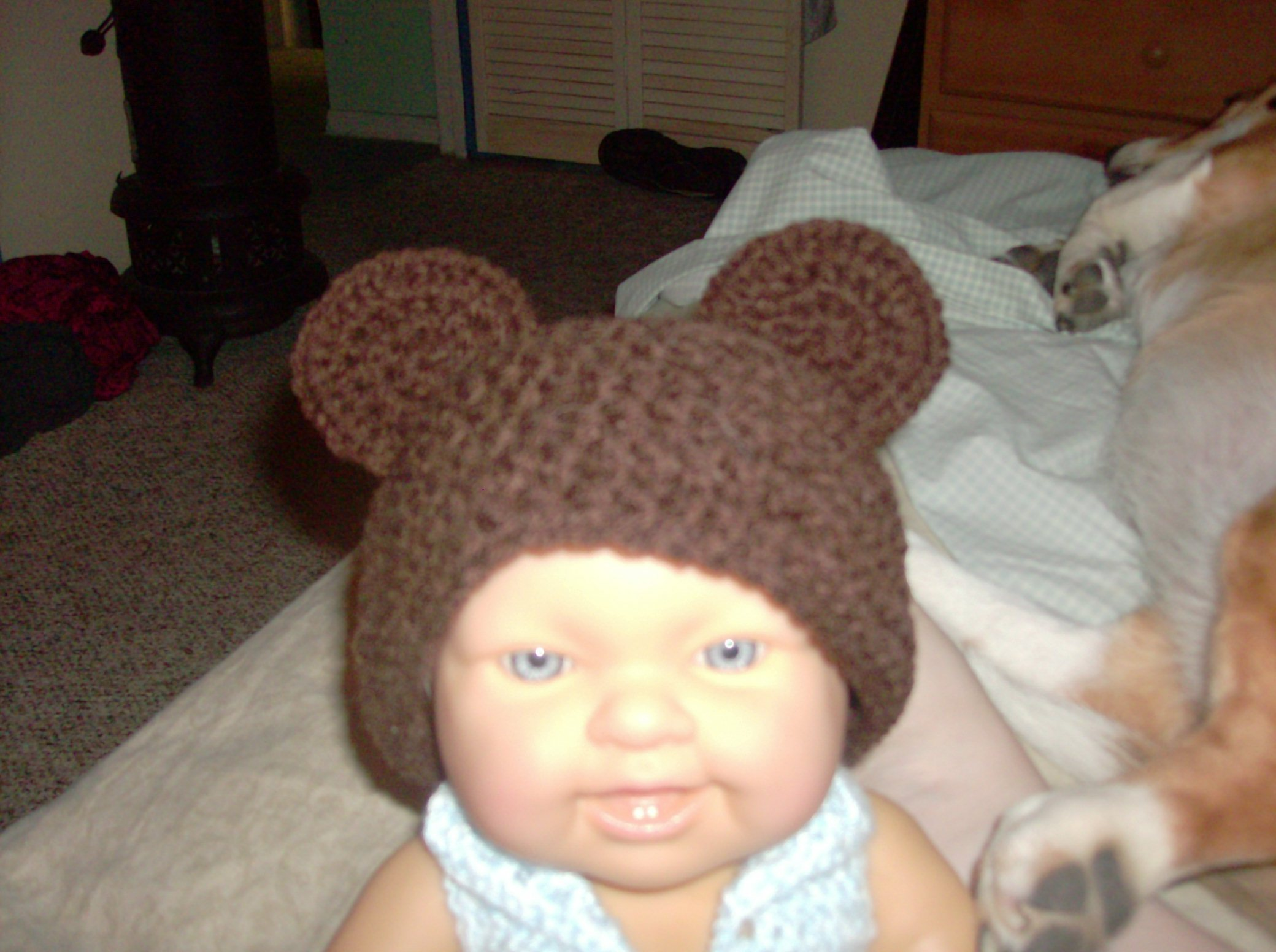 Newborn Teddy Cap